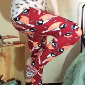 LuLaRoe Pants - LuLaroe Red Bird Birdie Leggings Buttery Soft